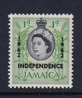 Jamaica: 1962/63   QE II - 'Independence' OVPT   SG182    1d        MH - Jamaica (1962-...)