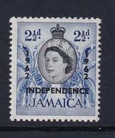 Jamaica: 1962/63   QE II - 'Independence' OVPT   SG183    2½d        MH - Jamaica (1962-...)