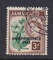Jamaica: 1962/63   QE II - 'Independence' OVPT   SG184    3d        Used - Jamaica (1962-...)
