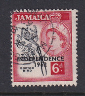 Jamaica: 1962/63   QE II - 'Independence' OVPT   SG186    6d        Used - Jamaica (1962-...)
