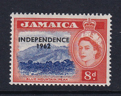 Jamaica: 1962/63   QE II - 'Independence' OVPT   SG187    8d        MH - Jamaica (1962-...)