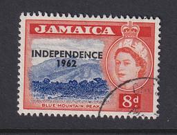Jamaica: 1962/63   QE II - 'Independence' OVPT   SG187    8d        Used - Jamaica (1962-...)