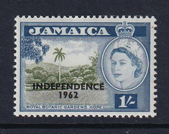 Jamaica: 1962/63   QE II - 'Independence' OVPT   SG188    1/-      MH - Jamaica (1962-...)