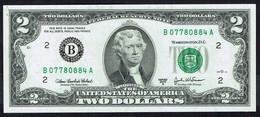 U.S.A. - 2 US DOLLARS - Federale Reserve Note - Serie 2003 A - N° B 07780884 A. - JEFFERSON. - Biljetten Van De  Federal Reserve (1928-...)