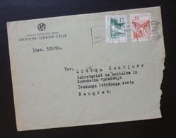 Yugoslavia 1960 Cover Sent From Celje Slovenia To Beograd Serbia  CA33 - Slovenia