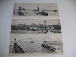 3 Grandes Cartes Postale LE HAVRE ET GRANVILLE - Harbour