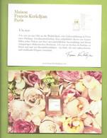 MAISON FRANCIS KURKDJIAN  A LA ROSE * POSTCARD * V/R - Parfumkaarten