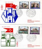 1972 SMOM FDC 80/83 Antiche Fortezze Dell'Ordine - Malta (Orden Von)