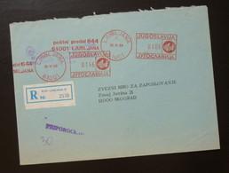 Yugoslavia 1988 Cover Sent From Ljubljana Slovenia To Beograd Serbia  CA37 - Slovenia