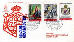 1972 SMOM FDC 77/79 Decennale Della Elezione Del Gran Maestro Fra' Angelo - Malta (Orden Von)