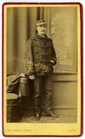 CDV Militaire 1876 H. Cazaux à Auch . Chasseur . Dolman En Astrakan . - Alte (vor 1900)
