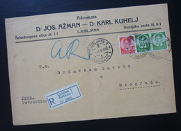 Yugoslavia 1936 Cover Sent From Ljubljana Slovenia To Beograd Serbia  CA44 - Slovenia