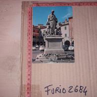 C-95212 GROSSETO PIAZZA DANTE MONUMENTO A LEOPOLDO II PANORAMA AUTO D'EPOCA - Grosseto