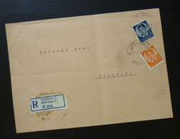 Yugoslavia 1938 Cover Sent From Ljubljana Slovenia To Beograd Serbia  CA47 - Slovenia
