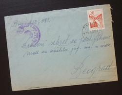 Yugoslavia 1959 Cover Sent From Zminj Croatia To Beograd Serbia  CA50 - Slovenia