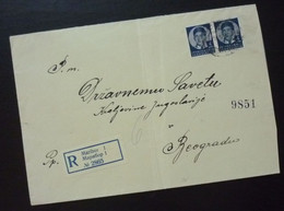Yugoslavia 1939 Cover Sent From Maribor Slovenia To Beograd Serbia  CA60 - Slovenia