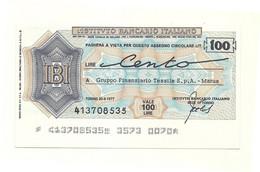 1977 - Italia - Istituto Bancario Italiano - Gruppo Finanziario Tessile S.p.A. - Marus - [10] Chèques
