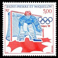 ST-PIERRE ET MIQUELON 1988 - Yv. 487 **   Faciale= 0,76 EUR - Hockey Aux JO De Calgary  ..Réf.SPM11888 - Unused Stamps