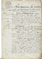 EURE. Bourgachard. La Bouille.  Acte 4 Pages - Manoscritti