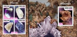 Sierra Leone 2020, Minerals, 4val In BF +BF - Minerals