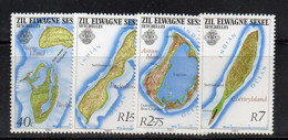384 490 - SEYCHELLES ZIL ELOIGNE SESEL 1983 , Serie N. 63/66  ***  MNH - Seychellen (1976-...)
