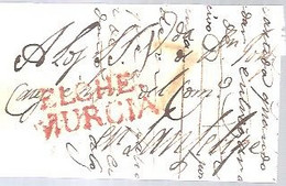 CARTA 1819  MARCA  ELCHE MURCIA - ...-1850 Vorphilatelie