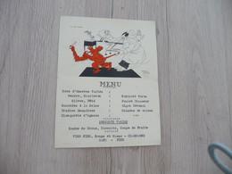 Menu Illustré Par Cartier  Mictasol Draeger 1945 Médecine Humour Sine Himpanzé - Menu