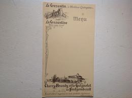 Crozant Fontgombault Anis Cherry Quinquina - Menu