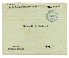 K.K. Postsparcasse-Amt Wien Company Letter Cover Posted 1889 To Sagor (Zagorje Ob Savi) B200120 - Slovenia