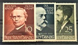 DANZIG 1939 - MLH - Mi 306, 307, 308 - Danzig