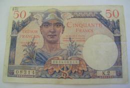 Billet Trésor Français - Territoires Occupés - 50 Francs - K.2 / 08314  (DV 1) - 1947 French Treasury