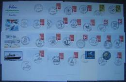 France - Lot 119 Entiers Postaux :Enveloppes Avec Visuels Différents - Prêt à Poster, PAP - 116 Du 44 Et 3 Autres Départ - Konvolute: Ganzsachen & PAP