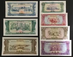LAOS SET 1 10 20 50 100 200 500 KIP BANKNOTES (1968) UNC Pathet Lao - Laos