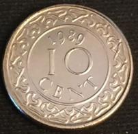 SURINAME - 10 CENTS 1989 - Neuve - UNC - KM 13a - Surinam 1975 - ...