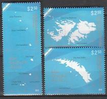 ANTARCTIQUE - ARGENTINE 2012 Iles Malouines, Géorgie Du Sud ... - Yv. 2939/41 ** - Non Classés