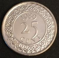 SURINAME - 25 CENTS 1989 - Neuve - UNC - KM 14a - Surinam 1975 - ...