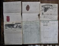 Ensemble De Factures Et Documents Commerciaux CYCLES - 1908 à 1955 - Trasporti