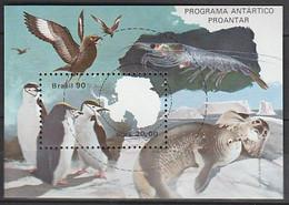 ANTARCTIQUE - BRESIL 1990 Faune Polaire : Manchots, Skuas, Krill ... - Yv. BF81 ** - Non Classés