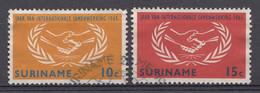 Surinam 1965  Mi.nr:.460-461  Internationalen Zusammenerbeit   Oblitérés / Used / Gest. - Suriname