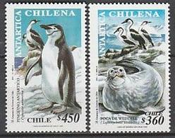 ANTARCTIQUE - CHILI 1999 Manchot à Jugulaire Et Phoque - Yv. 1488/89 ** - Non Classés
