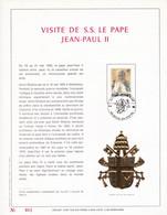 Exemplaire N°001 Feuillet Tirage Limité 500 Exemplaires Frappe Or Fin 23 Carats 2166 Visite S.S. Le Pape Jean Paul II - Kleinbögen