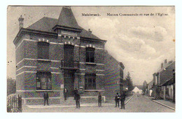 MELSBROECK : Maison Communale Et Rue E L'Eglise - Animée Et Circulée En 1923 - 2 Scans - Steenokkerzeel