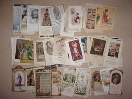 Lot De 100 Images Pieuses Du 20e Siècle - Holy Cards - Santini - Communion Prière - Santini