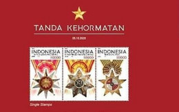 INDONESIA SIGN OF HONOURS SET STRIPE STAMP 2020 ( JUST ISSUE) - Indonesia