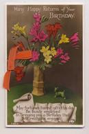 AJ56 Birthday Greeting - Flowers, Ribbon, Rotary Photo - Andere