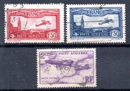 G2 France Oblitéré PA N° 5 à 7 à 10% De La Côte. A Saisir !!! - 1927-1959 Gebraucht