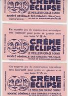3 X Vloeipapier / Buvard - Crème Eclipse - Le Meilleur Cirage Connu - Ackermans - Elsene / Ixelles - 1932 - Produits Pharmaceutiques