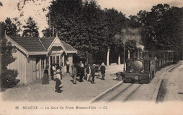 Beaune La Gare Du Train Beaune Ville - Stations With Trains