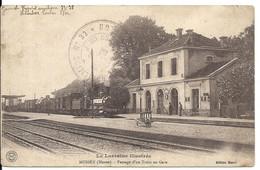 MUSSEY. PASSAGE D' UN TRAIN EN GARE. CACHET HOPITAL MILITAIRE - Other Municipalities