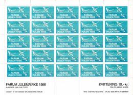 Denmark; Scouting;  Local Christmas Seals - Farum 1986.  Full Sheet MNH(**). - Altri